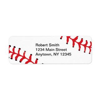 Etiquetas del remite del diseño del béisbol etiqueta de remite