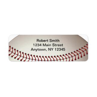 Etiquetas del remite del diseño del béisbol etiqueta de remitente