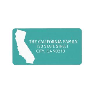 Etiquetas del remite del estado de California - Etiquetas De Dirección