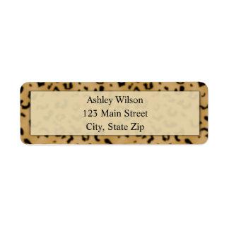 Etiquetas del remite del estampado leopardo etiquetas de remite