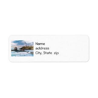 Etiquetas del remite del faro del punto de la palo etiqueta de remitente