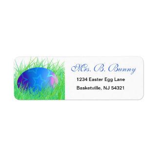 Etiquetas del remite del huevo de Pascua Etiqueta De Remite