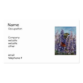 Etiquetas del remite del jardín de la mariposa tarjetas de visita