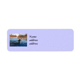 Etiquetas del remite del lago loon etiqueta de remite