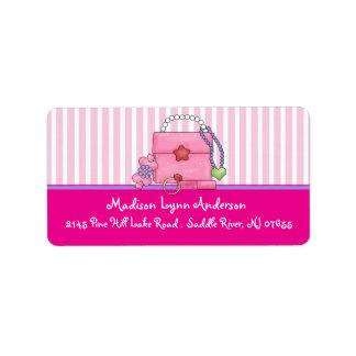Etiquetas del remite del monedero del chica de la  etiqueta de dirección