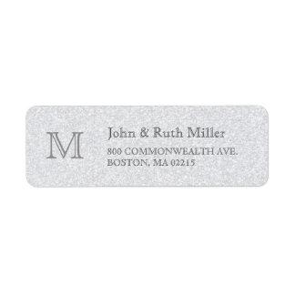 Etiquetas del remite del monograma del granito etiquetas de remite