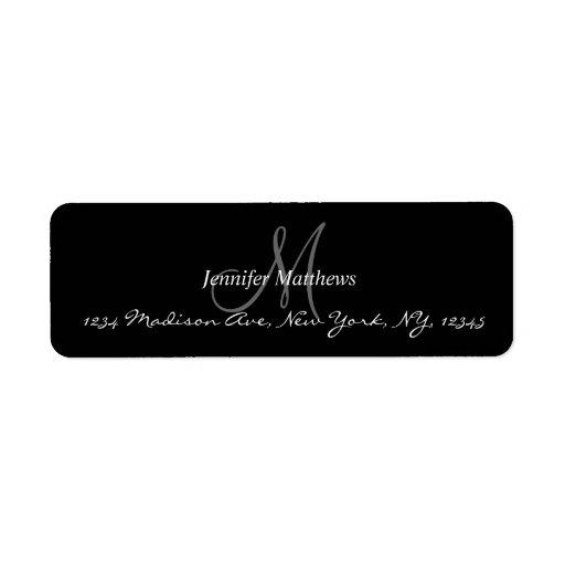 Etiquetas del remite del monograma para los bodas etiquetas de remite