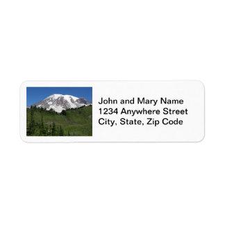 Etiquetas del remite del Monte Rainier Etiqueta De Remite