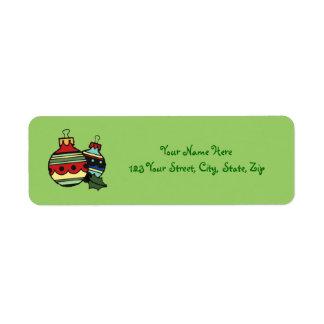 Etiquetas del remite del navidad de las decoracion etiquetas de remite