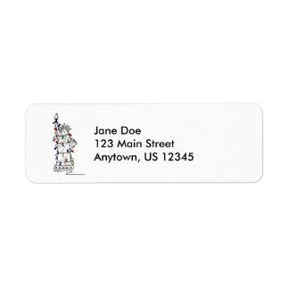 Etiquetas del remite del navidad de Nueva York Etiquetas De Remite