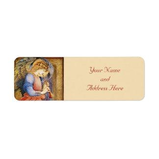 Etiquetas del remite del navidad del ángel etiqueta de remite