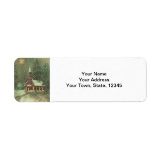 Etiquetas del remite del navidad del vintage etiquetas de remite