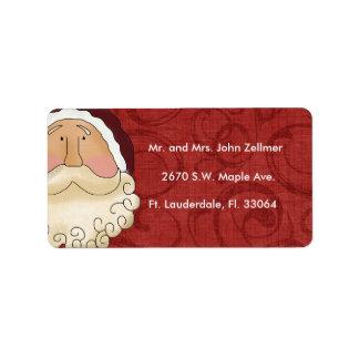 Etiquetas del remite del navidad etiqueta de dirección