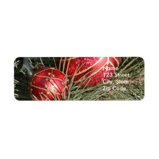 Etiquetas del remite del navidad o etiquetas del r etiqueta de remite