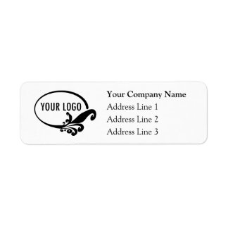 Etiquetas del remite del negocio con el logotipo etiqueta de remitente