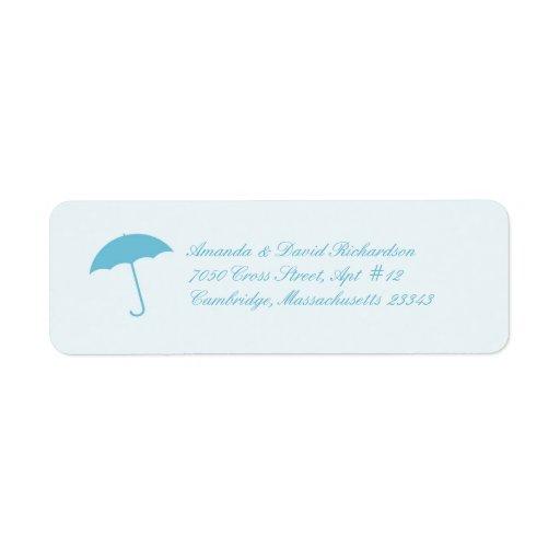 Etiquetas del remite del paraguas de la fiesta de  etiquetas de remite
