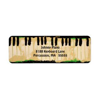 Etiquetas del remite del piano etiqueta de remite
