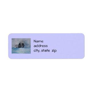 Etiquetas del remite del pingüino etiqueta de remite