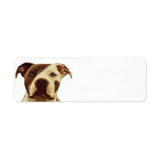 Etiquetas del remite del pitbull etiqueta de remitente