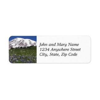 Etiquetas del remite del prado del Monte Rainier Etiquetas De Remite