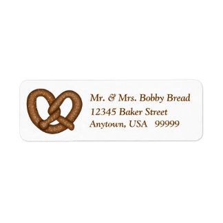 Etiquetas del remite del pretzel etiquetas de remite