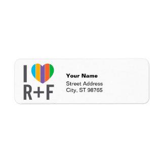Etiquetas del remite del RF del corazón I Etiqueta De Remite