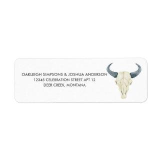 Etiquetas del remite del rodeo el | de la acuarela etiqueta de remite
