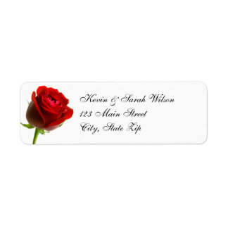 Etiquetas del remite del rosa rojo etiquetas de remite