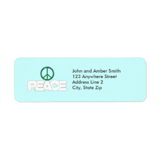 Etiquetas del remite del signo de la paz etiqueta de remite
