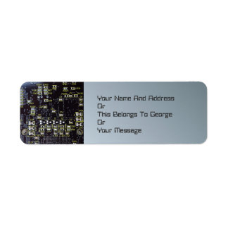 Etiquetas del remite del tablero del circuito inte etiqueta de remitente