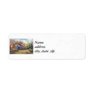 Etiquetas del remite del tren del Zephyr de Minnes Etiquetas De Remite