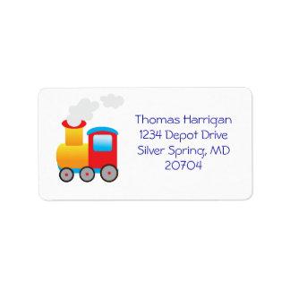 Etiquetas del remite del tren etiquetas de dirección
