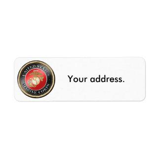 Etiquetas del remite del USMC Etiquetas De Remite
