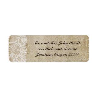 Etiquetas del remite del Viejo Mundo del cordón de Etiquetas De Remite