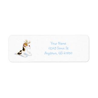 Etiquetas del reno del fox terrier del alambre etiqueta de remite