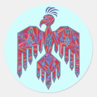 Etiquetas del símbolo de Thunderbird del nativo Pegatina Redonda