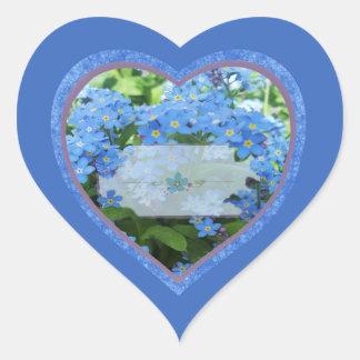 Etiquetas del tarro de la especia del corazón de pegatina en forma de corazón