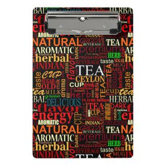 Etiquetas del té minicarpeta de pinza