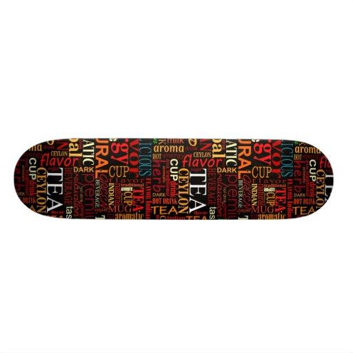 Etiquetas del té skate board