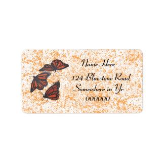 Etiquetas del trío del monarca etiqueta de dirección
