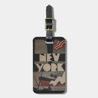 Etiquetas del viaje de Nueva York del vintage para Etiqueta Para Equipaje
