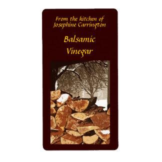 Etiquetas del vinagre balsámico etiquetas de envío
