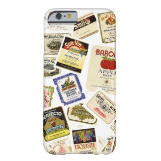 Etiquetas del vino de California del vintage Funda Para iPhone 6 Barely There
