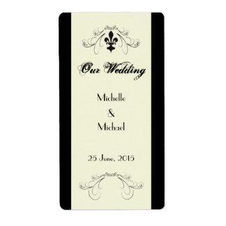Etiquetas del vino de la flor de lis de Florencia Etiquetas De Envío