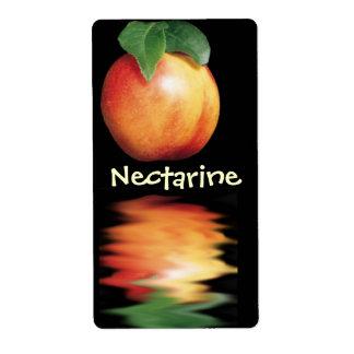 Etiquetas del vino de la nectarina etiquetas de envío