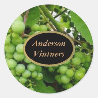 Etiquetas del vino de las uvas