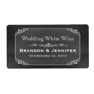 Etiquetas del vino del boda de encargo elegante de etiquetas de envío