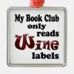 Etiquetas del vino del círculo de lectores ornamento para reyes magos