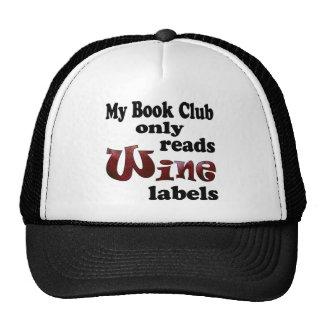 Etiquetas del vino del círculo de lectores gorro