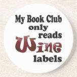 Etiquetas del vino del círculo de lectores posavasos personalizados